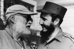 American author Ernest Hemingway, left, and former Cuban President Fidel Castro, who were fishing pals and a symbol of the two country's intimate history, together in Havana in 1960.