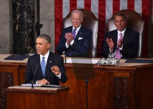 President Barack Obama in his State of the Union Address