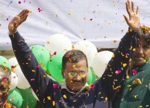 A landslide victory for Arvind Kejriwal