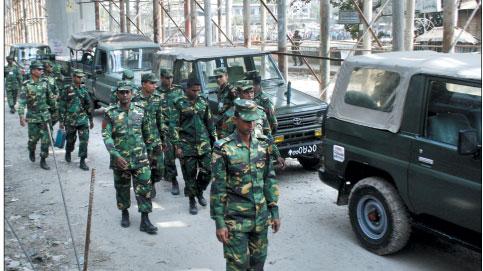 দেশসেবায় নিয়োজিত বাংলাদেশ সেনাবাহিনী