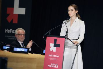 British Actress Emma Watson @UN Women HeForShe